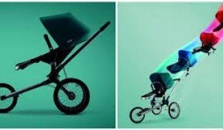 Poussette à trois roues, pour concilier jogging et promenade